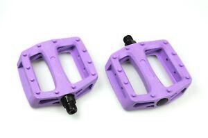 US-SELLER-Wellgo-Platform-Pedals-MTB-BMX-Bike-Bicycle-Fixed-Gear-Purple