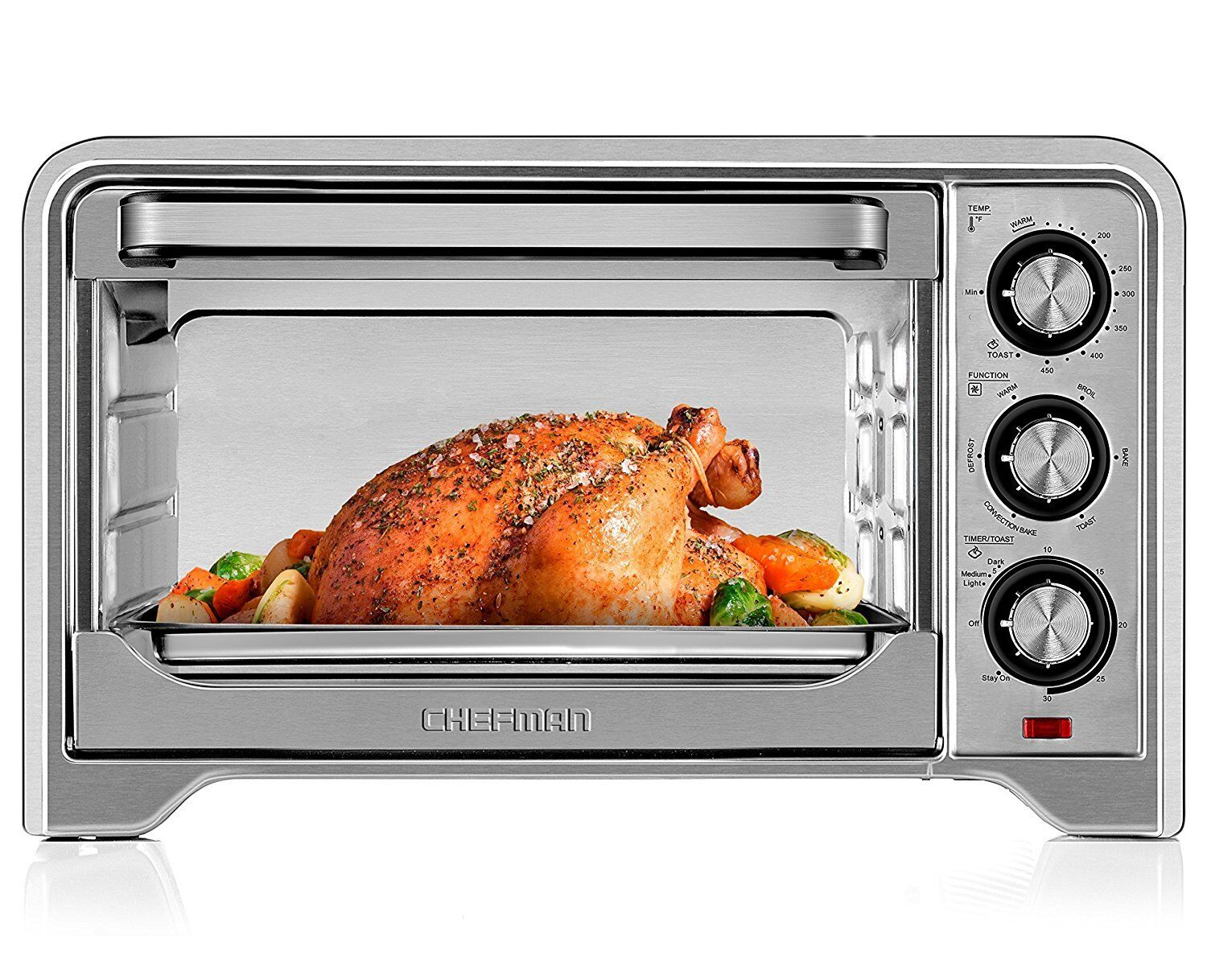 Toaster Convection Oven Countertop X-Large 6 Function Stainless Steel Chefman