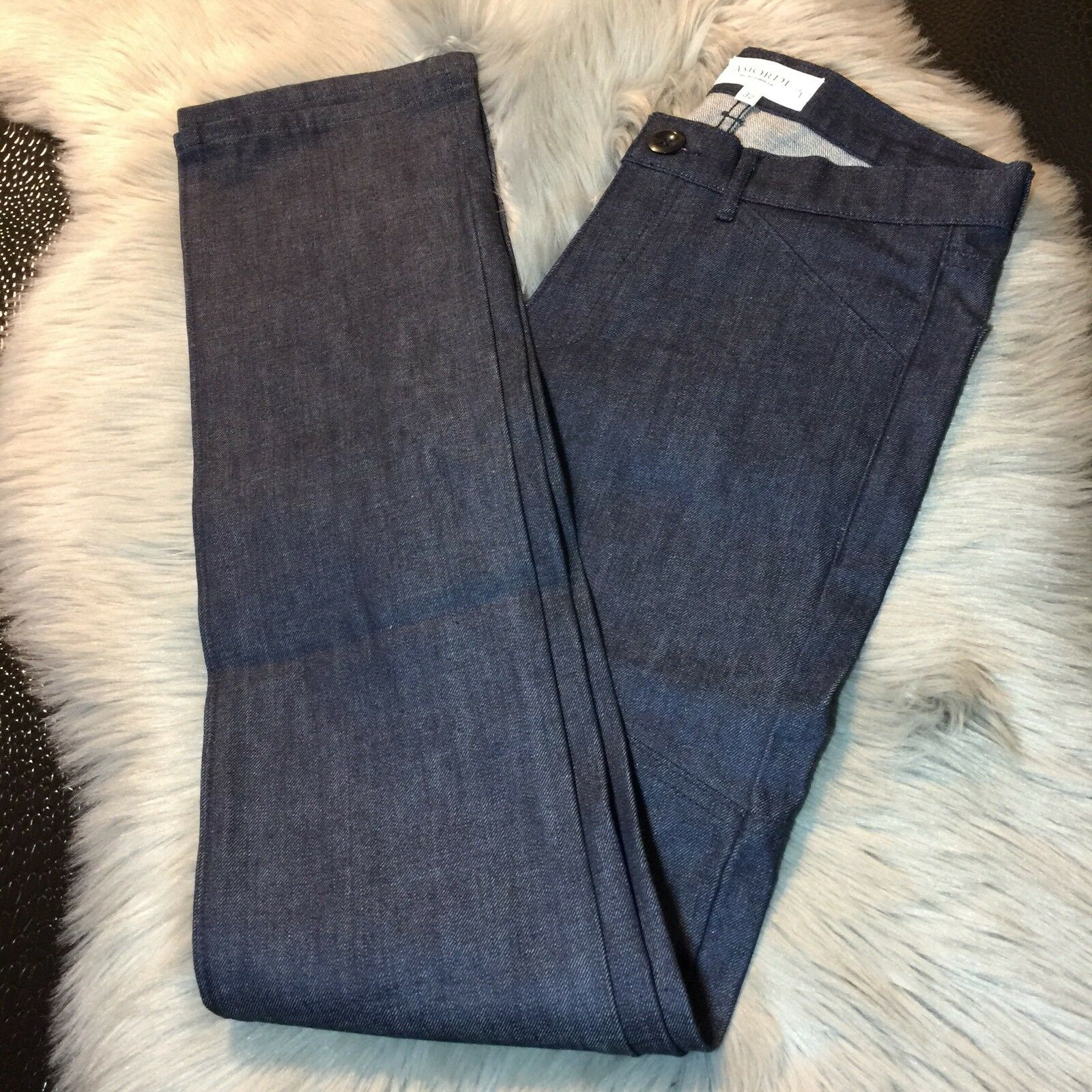 NWOT AmorDe San Francisco Ca Dark Wash Organic Jeans Sz 32 Waist Long
