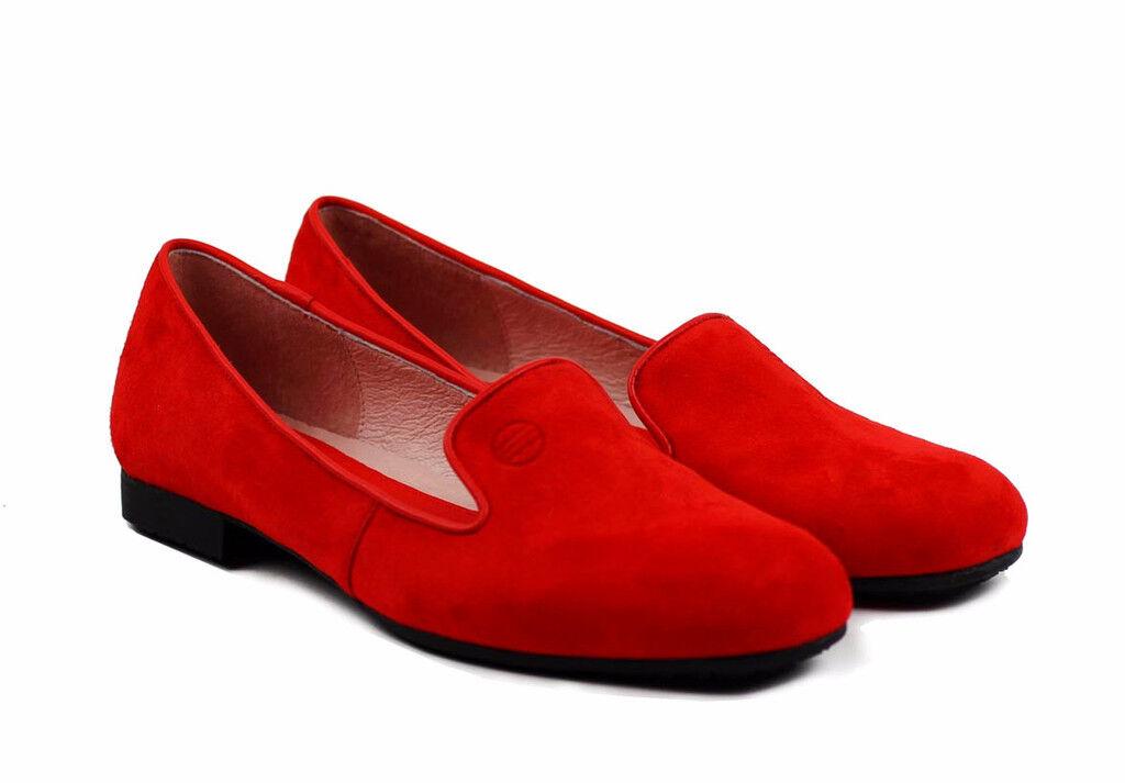Women's Flats Suede Shoes California Footwear Red Rhea Footwear California b5b9f9