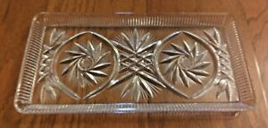CRYSTAL-CLEAR-HANDCUT-24-LEAD-CRYSTAL-CUT-GLASS-SERVING-TRAY-PINWHEEL-STYLE