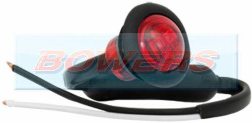 "12V//24V 1/"" WHITE AMBER RED BLUE GREEN SMALL ROUND LED BUTTON MARKER LIGHTS LAMPS"