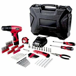 Details about Hyper Tough 12Volt Cordless Lithium-Ion Drill/Driver with  100-pc  Project Kit