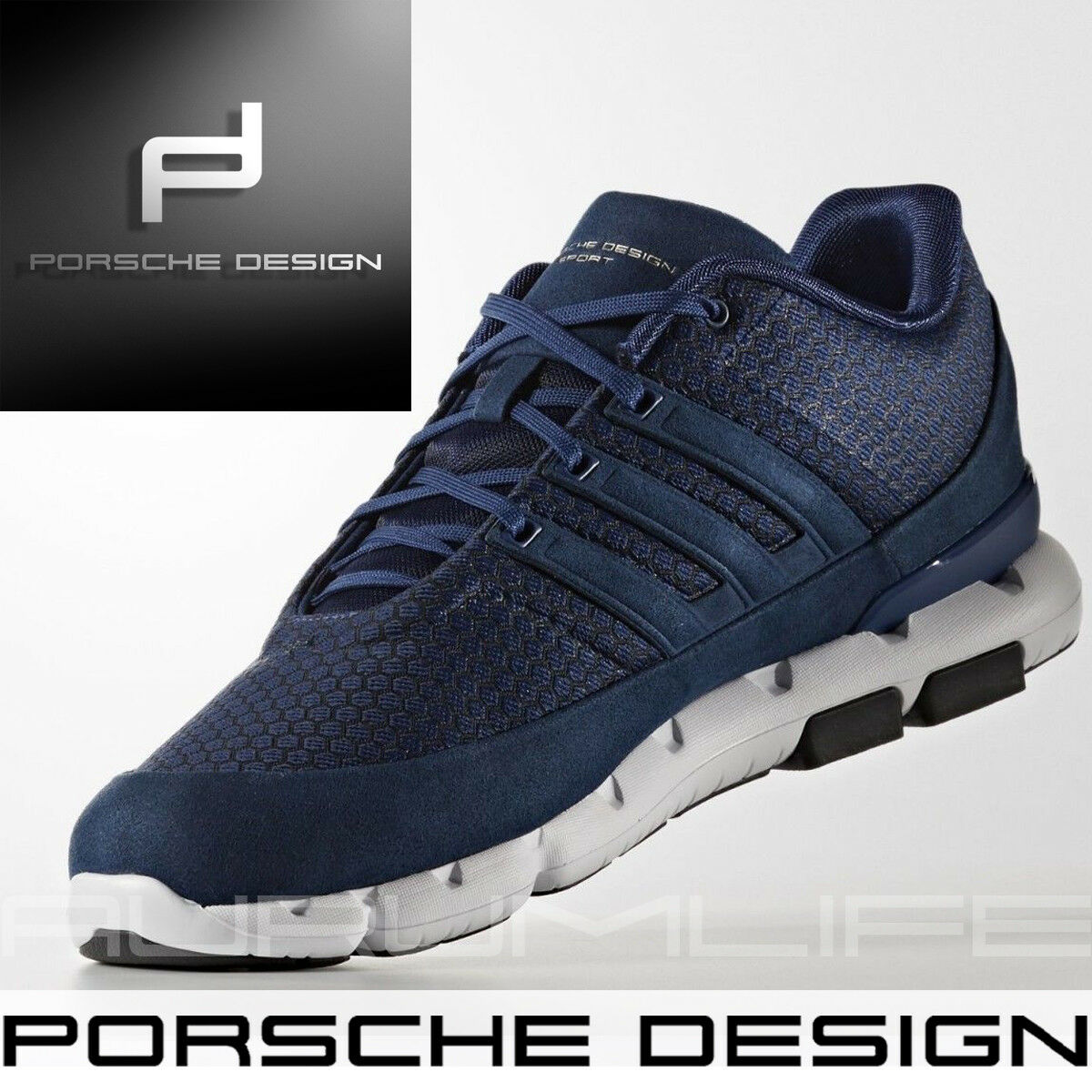 super popular 4a15b a24ee Adidas Adidas Adidas Porsche Design shoes Boost EC Running Bounce Mens Run  bluee Limited BB5529 dda5ae