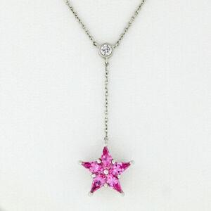 2257f5b95 Image is loading Tiffany-amp-Co-Platinum-95ctw-Pink-Sapphire-Diamond-