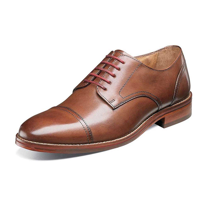 Florsheim SALERNO CPOX Mens Cognac 12160-221 Lace Up Dress shoes
