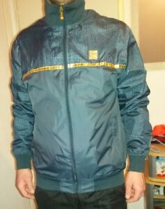 Détails sur veste homme marque Airness bleu et or