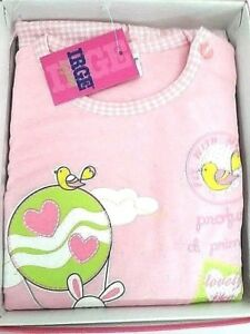 Schlafanzug-Kleines-Madchen-Baumwolle-Di-Jersey-Rosa-TG-24-Monaten-Bimba