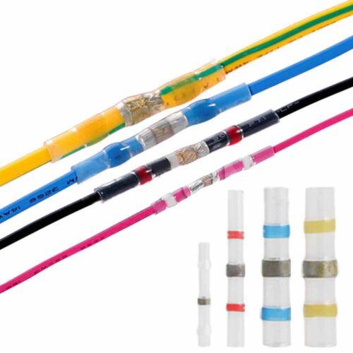100Pcs Waterproof Heat Shrink Solder  Butt Splice Wire Connector Seal Tube Acces