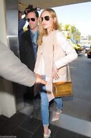 Zara cappotto nuovo ROSA BABY con ECO PELLICCIA tg. S style elisabetta franchi