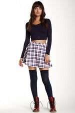 bf28dae575 American Apparel Plaid Matilda Navy Blue Red White Pleated Tennis ...