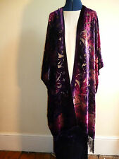 Velvet devore unstructured jacket. Size to 28. Shades of purple and pink NEW