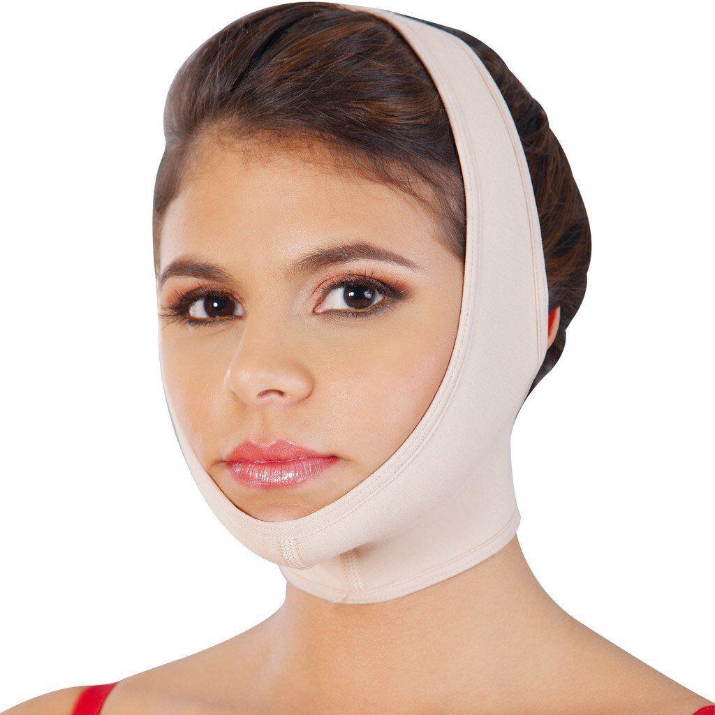 Faja Postquirurgica Facial Controle de Papada Post Surgery Mentonera Chin Neck