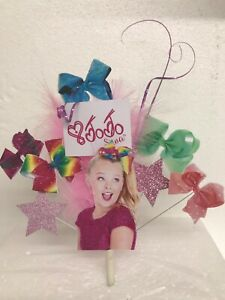 Tremendous Jojo Bow Birthday Cake Topper With Jo Jo Bows Stars Feathers Personalised Birthday Cards Epsylily Jamesorg