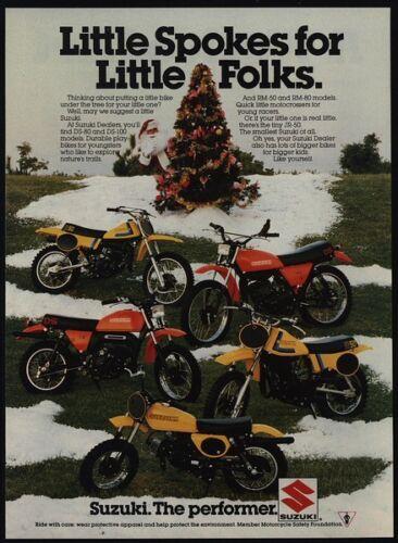 1978 SUZUKI DS-80 DS-100 RM-50 RM-80 JR-50 Dirt Bike Motorcycles VINTAGE AD