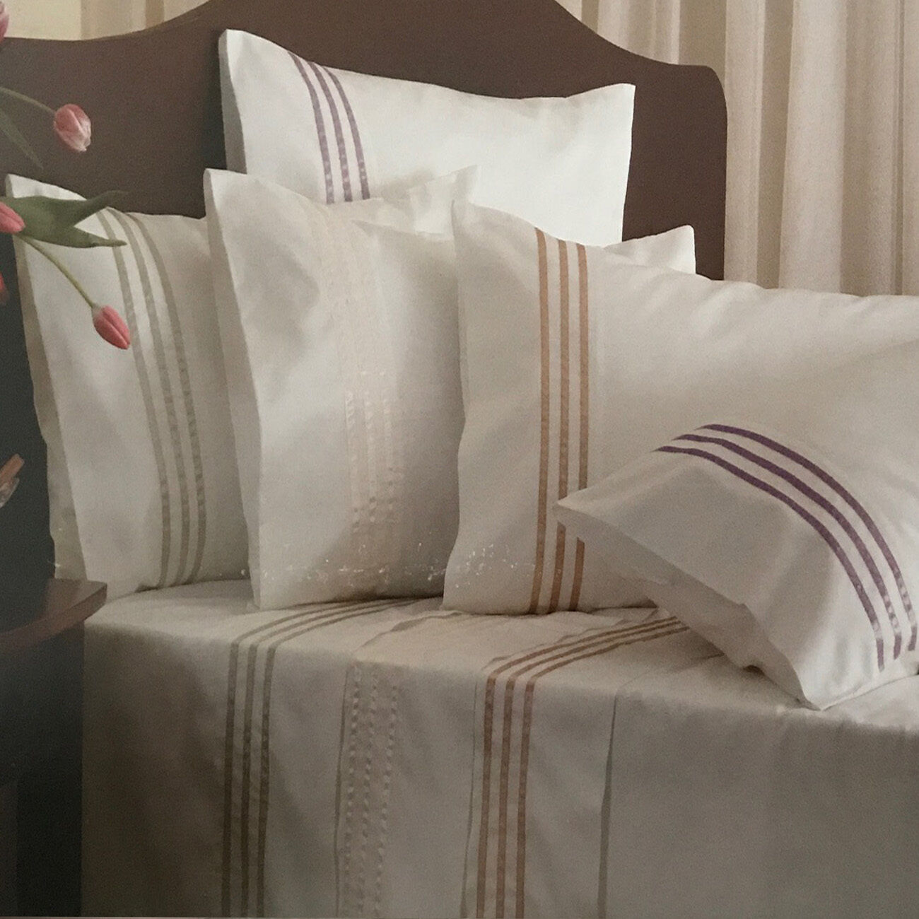 Private Collection Finesse Ribbons Celdon Sheet Set   Cotton Rich Sateen   Queen