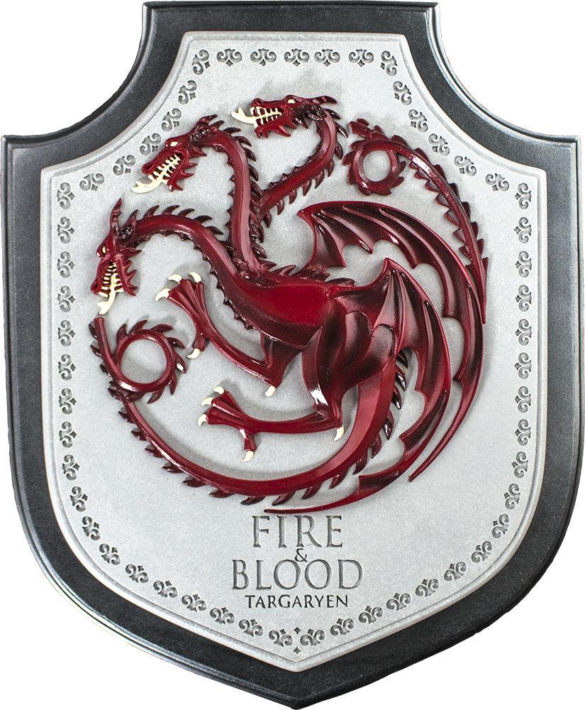 Game of thrones - 12  targaryen haus crest plaque (edel - sammlung)   neue
