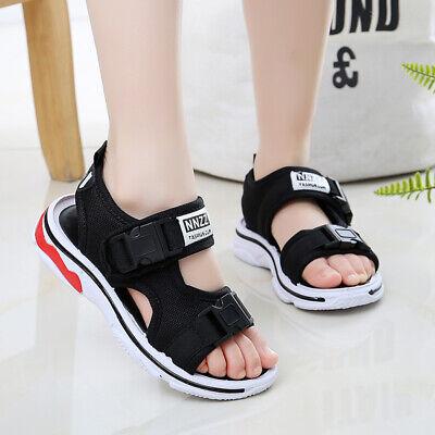Summer Children Boys Girls Net Shoes Breathable Lightweight Sandals Soft Sole Anti-Slip Casual Outdoor Beach Flats Black, 6.5