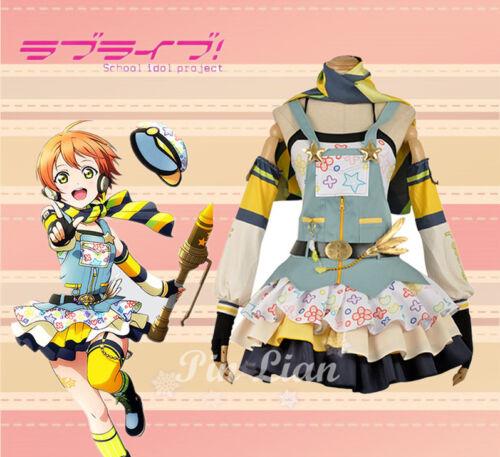 Lovelive μ/'s Rin Hoshizora Crayon Painter Awakening Dress Outfit Cosplay Costume