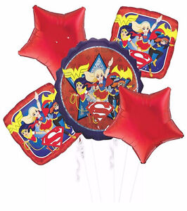 Image Is Loading DC Super Hero Girls Balloon Bouquet Birthday Party