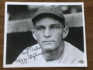RIGGS STEPHENSON Signed Auto 8x10 Photo Insc. *COA* (d.1985) CUBS/ Alabama HOF