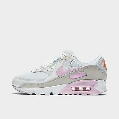 Details about NIKE AIR MAX 90 WOMEN's PREMIUM CASUAL AUTHENTIC WHITE - PINK FOAM