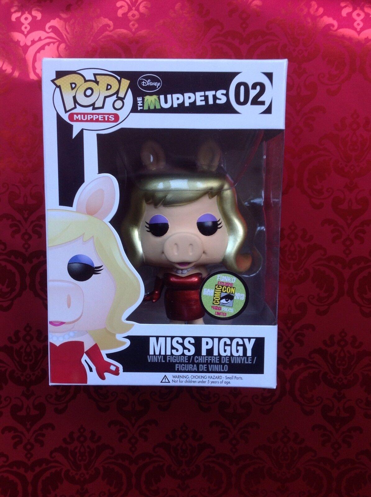 Funko Pop Vinyl The Muppets Miss Piggy  02 Sdcc Rare
