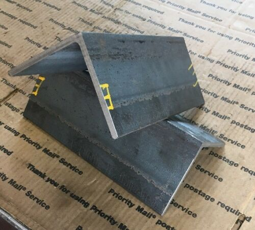 "4/"" x 4/"" x 10/"" Long 1//4 THICK Steel Angle 2 Heavy Duty Brackets Bracing Welding"