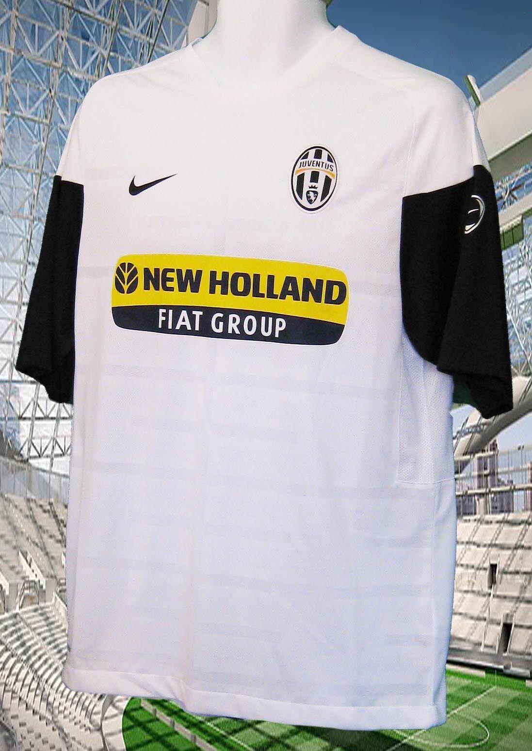 NIKE JUVENTUS FOOTBALL Training Pre Match Shirt New Holland White M