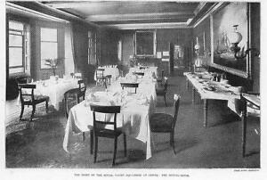 1899-Antique-Print-HAMPSHIRE-Cowes-Royal-Yacht-Squadron-Dining-Room-164