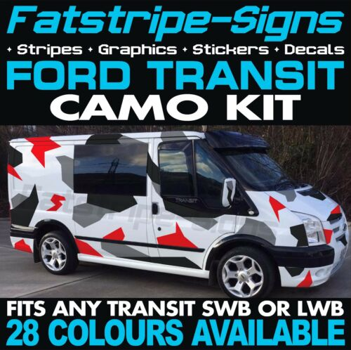 FORD TRANSIT MK7 CAMO GRAPHICS STICKERS DECALS CAMOUFLAGE SWB LWB DAY VAN CAMPER