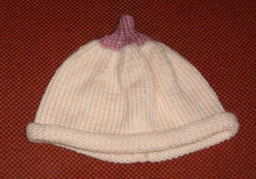 /_/_BOOB BEANIE.. BREAST BEANIE HAT  .FOR BABY NEW HAND KNITTED SIZE 0-3 MONTHS