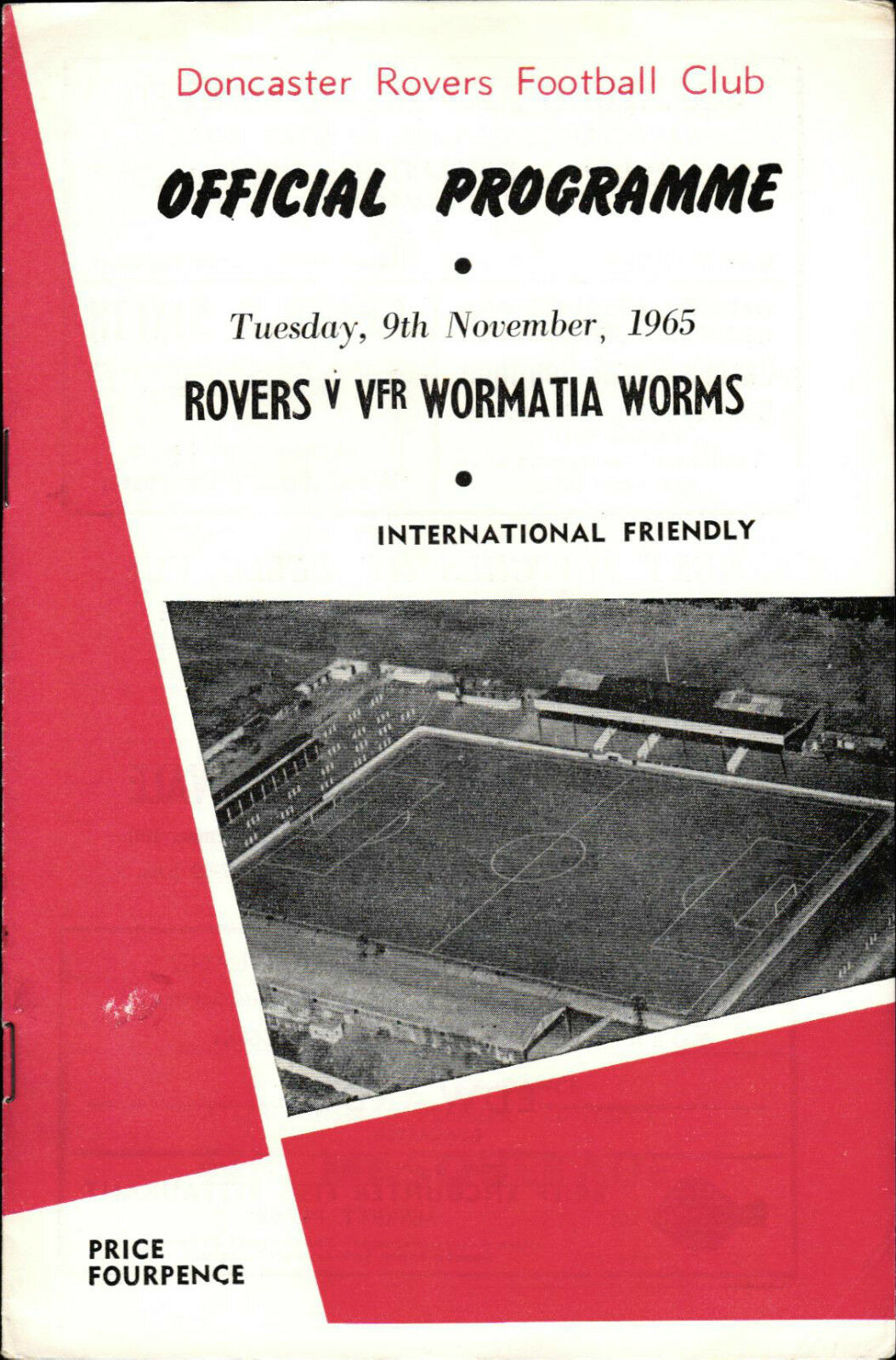 09.11.1965 Doncaster Wormatia Rovers pourC Wormatia Doncaster Worms b5913c