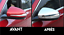CACHES RETROVISEURS CHROME pour MERCEDES W205 CLASSE C 2014-18 C63 C63S C450 AMG