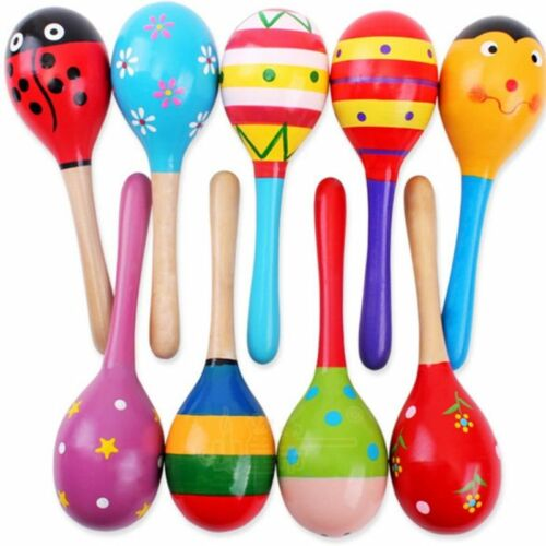 Children Toys Sound Music Toys Gifts Toddler Wood Rattle Sand Hammer Musical UK