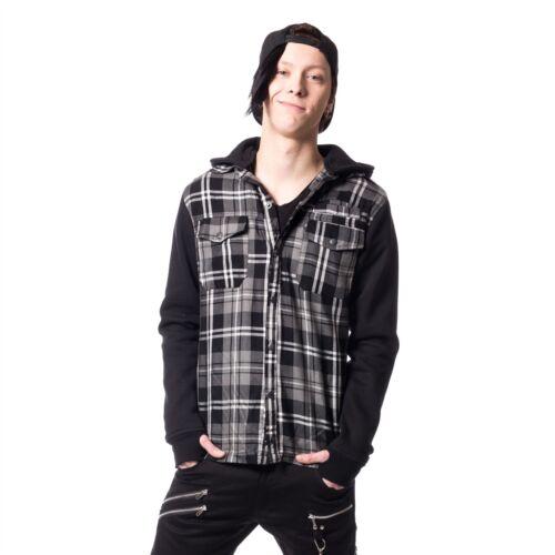 Vixxsin Quinn Jacket Mens Grey Check Goth Emo Punk Comic Con Dress up