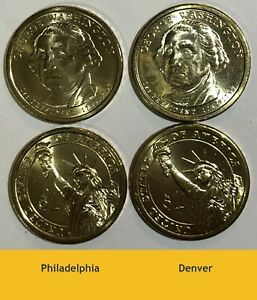 2007 P D Presidential $1 Jefferson Coins From Mint Wrapped Rolls 2