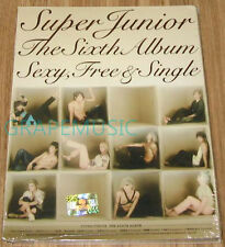 SUPER JUNIOR Sexy, Free & Single 6TH ALBUM TYPE B K-POP CD & FOLDED POSTER NEW