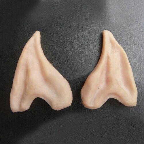 Pair Halloween Costume Ear Tips Elf Fairy Hobbit Vulcan Spock Alien Cosplay LN6X