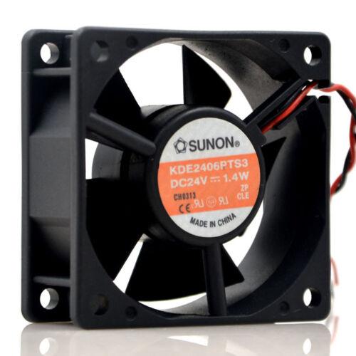 1PC SUNON KDE2406PTS3 Cooling Fan 24V 1.4W 6CM 2-wire New