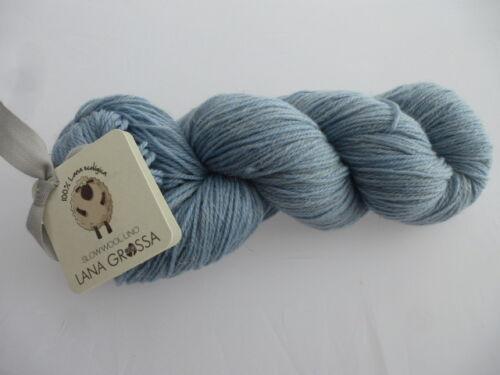 NEU 011 himmelblau Slow Wool Lino 100g von Lana Grossa  Fb