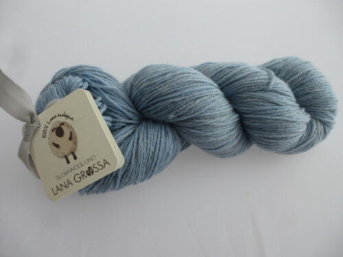 011 bleu ciel Slow Wool Lino 100 g de Lana Grossa FB Nouveau