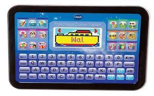 VTech-Kinder-Tablet-ab-5-Jahren-Lerntablet-Lerncomputer-Spielcomputer-blau-NEU