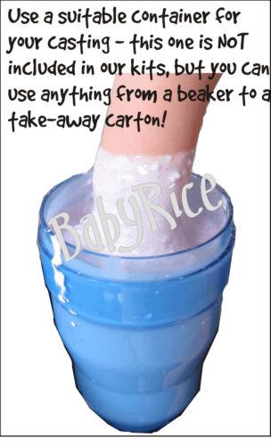 Baby Junge Geschenk 3D Abdruck-Set Guss Fuß Handabdruck Blau Eindrücke Putz