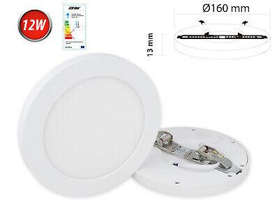 12w Led Panel Aufbau Deckenlampe Spot Deckenleuchte Warmweiß 1010 Lm Rund Ausgezeichnet Im Kisseneffekt