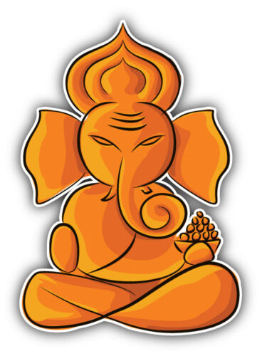 "Lord Ganesha Hinduism Car Bumper Sticker Decal 4/"" x 5/"""