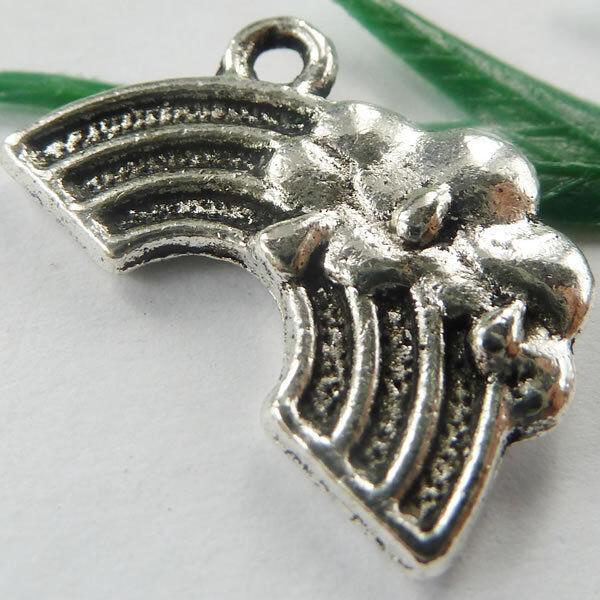 Wholesale free ship 180pcs tibet silver rainbow charms 20x12mm