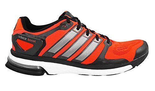 Adidas Mens B26735 Adistar Boost ESM shoes, Red Black Sliver, 12