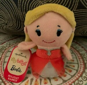 NEW-Hallmark-Itty-Bitty-Bittys-Holiday-Christmas-Barbie-Exclusive-2015-Red-Dress