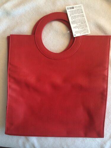 Tote Leather Red Handbag Napoleon Perdis Faux XukTOPZi